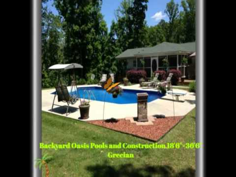 Beautiful Inground Swimming Pools And Bathhouse By:Backyard Oasis Pools And