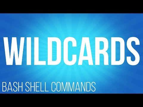 BASH Shell commands wildcards ( commands for Linux )