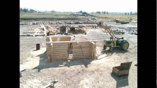 Log Cabin Construction- Time Lapse 1