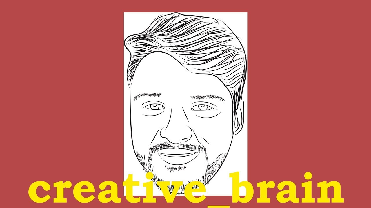 How To Make Image To Cartoon By Using Brush Tool Only In Illustrator