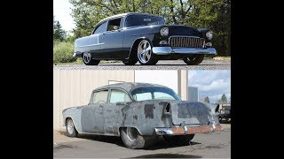 MetalWorks step by step build of a ProTouring 55 Chevy post car, TriFive, Restoration