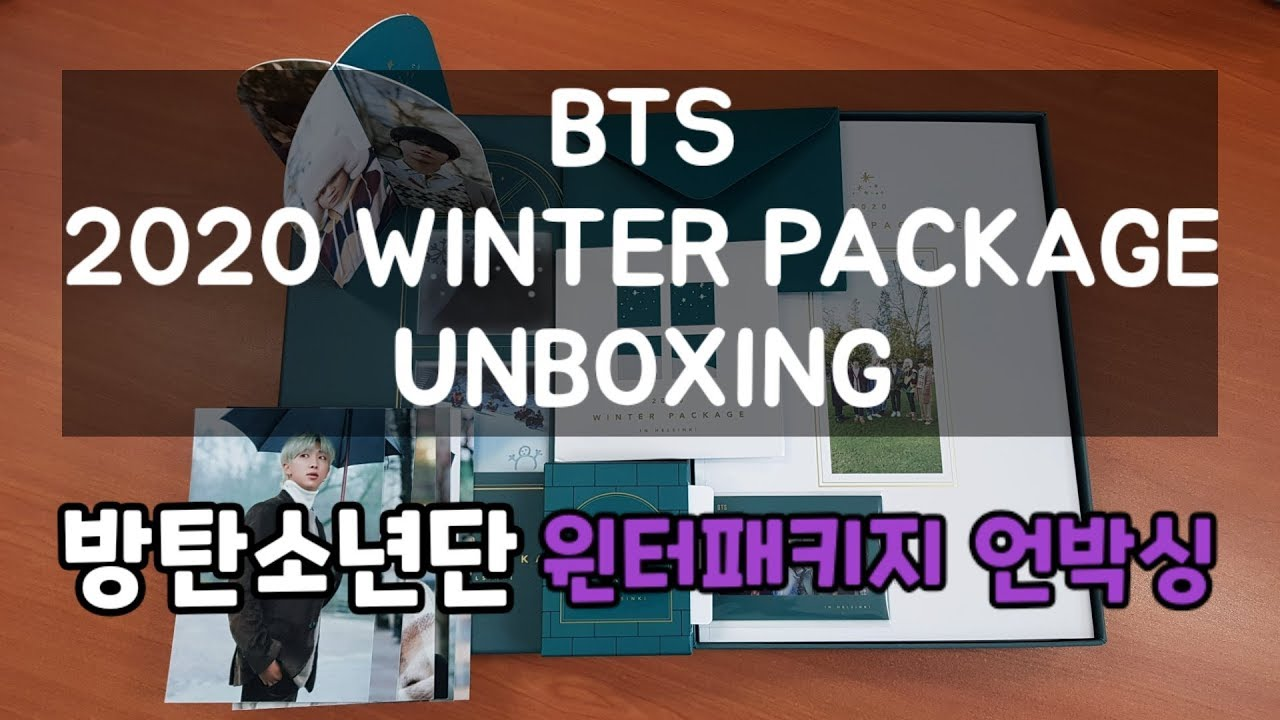 BTS 2020 WINTER PACKAGE UNBOXING