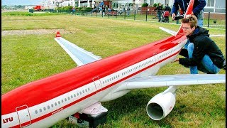 AMAZING HUGE RC SCALE MODEL AIRLINER AIRBUS A330-300 LTU FLIGHT DEMONSTRATION