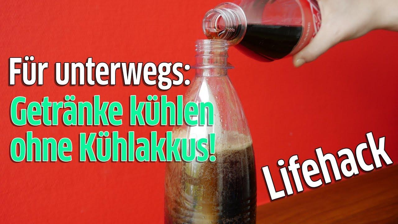 Lifehack: Getränke unterwegs kühlen im Sommer ohne Kühlakkus - YouTube
