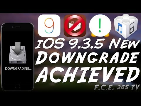 iOS 9 3 5 Downgrade to iOS 9 0 Achieved
