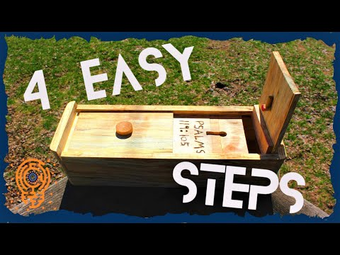 How to Make a Simple 4 Step Puzzle Box (Out of a Log)