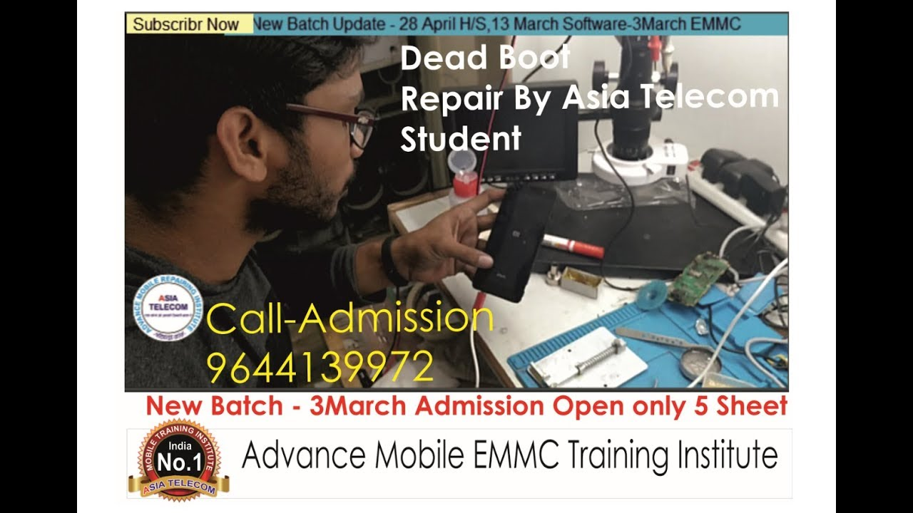 India Best EMMC Training Institute-Particle Class Mi Note-3 Dead Boot  Repair By Asia Telecom Student