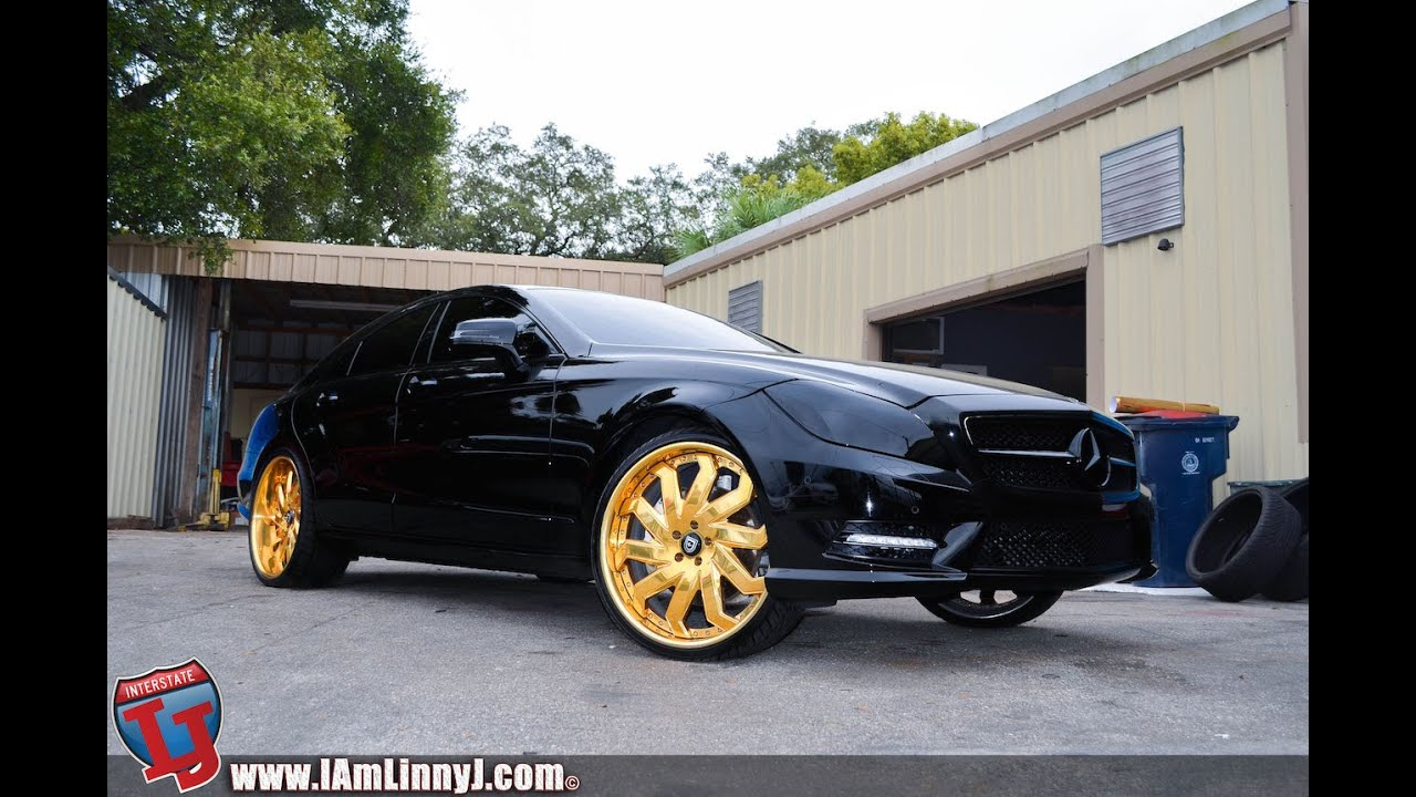 2014 Mercedes Cls On Gold Lexani Wheels Youtube