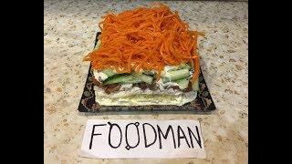 Салат с корейской морковью и опятами: рецепт от Foodman.club