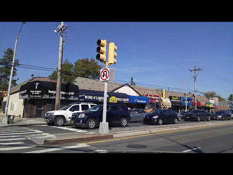 Driving from Jamaica to Glen Oaks in Queens, New York