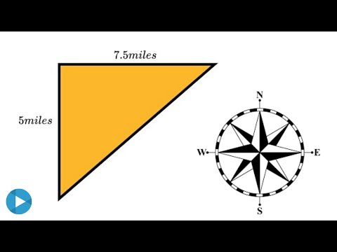 find-the-distance-and-bearing-|-trigonometric-word-problem
