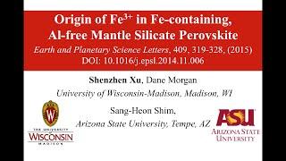 Origin of Fe3+ in Fe-containing, Al-free mantle silicate perovskite