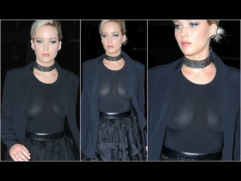 Jennifer Lawrence Wardrobe Malfunction - Nipples Exposed