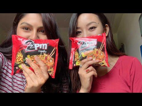 REVIEW   2PM AKHBARE CHICKEN   2x SPICY NEPALI RAMEN NOODLES   NEPALI FOOD 2019