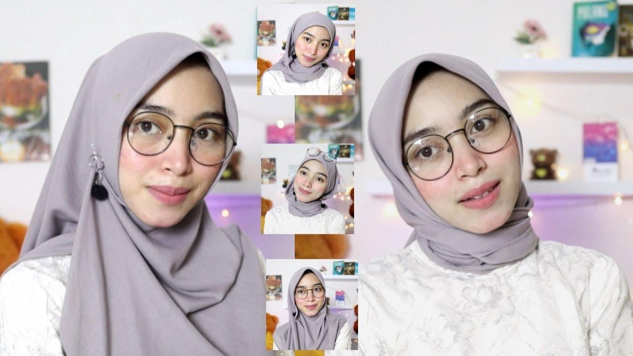 Tutorial Hijab Kacamata Untuk Lebaran Simpel Youtube