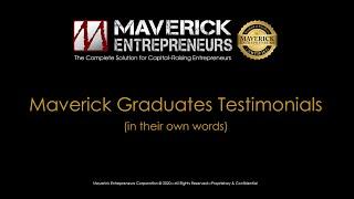 Maverick Entrepreneurs' Graduates' Testimonials