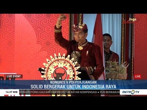 (Full) Pidato Jokowi di Kongres V PDIP 2019 di Bali