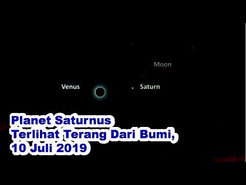 Malam Ini Planet Saturnus Bisa Dilihat Dengan Jelas Dari Bumi, Rabu 10 Juli 2019