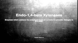 Medical vocabulary: What does Endo-1,4-beta Xylanases mean
