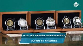 Las monedas que serán puestas en circulación recordarán los 700 años de la fundación de México-Tenochtitlan, de los 500 años de la resistencia indígena y el bicentenario de la consumación de independencia