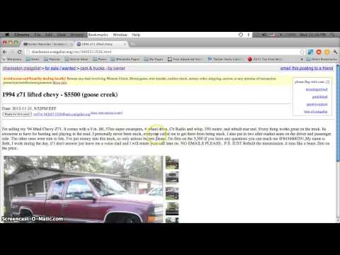 Craigslist South Carolina Used Cars For Sale By Owner Youtube