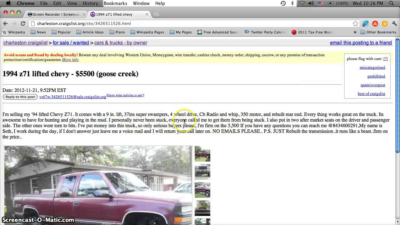 Charleston Sc Craigslist Cars And Trucks
