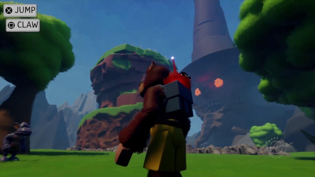 Banjo Kazooie - Spiral Mountain in Dreams PS4 - PART 1