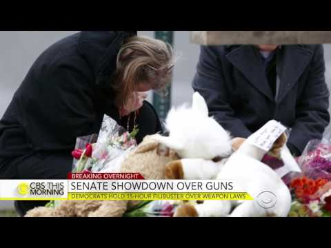 Senate Democrats hold nearly 15-hour filibuster over gun laws