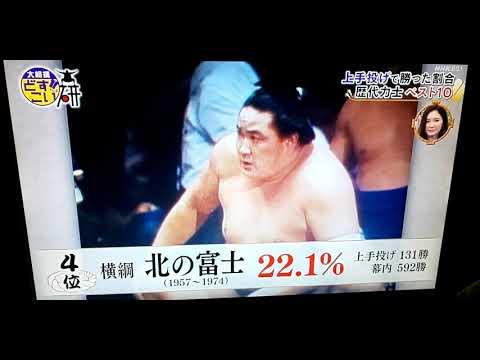 大相撲、上手投げで勝った割合歴代力士ベスト5