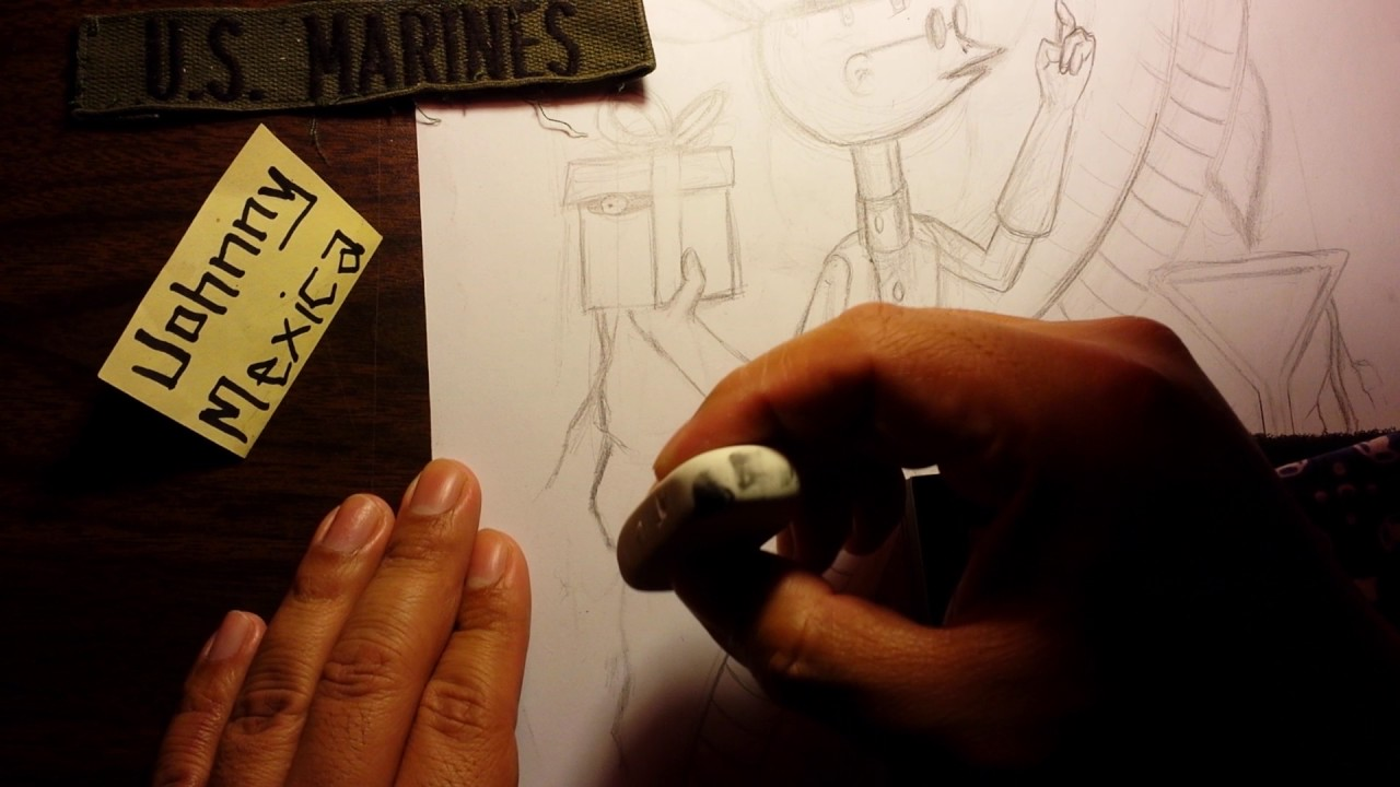Drawing a custom nightmare before christmas playing card - YouTube