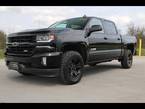 2016 chevrolet silverado 1500 ltz z71 4x4 midnight edition crew cab at wilson county chevy youtube. Black Bedroom Furniture Sets. Home Design Ideas