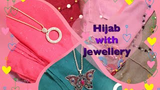 Hijab with jewellery