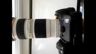 Canon 7D shutter speed - shutter sound