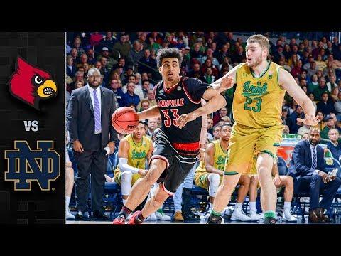 Louisville vs. Notre Dame Basketball Highlights (2017-18)
