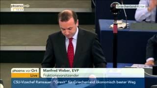 Debatte im EU-Parlament: Rede von Manfred Weber am 08.07.2015
