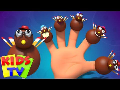 thanksgiving finger family   turkey nursery rhymes   kids songs   baby rhymes   kids tv