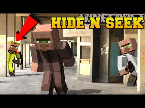 Minecraft: VILLAGERS HIDE AND SEEK!! - Morph Hide And Seek - Modded Mini-Game