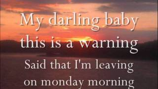Melanie Fiona - Monday Morning | lyrics | male version |