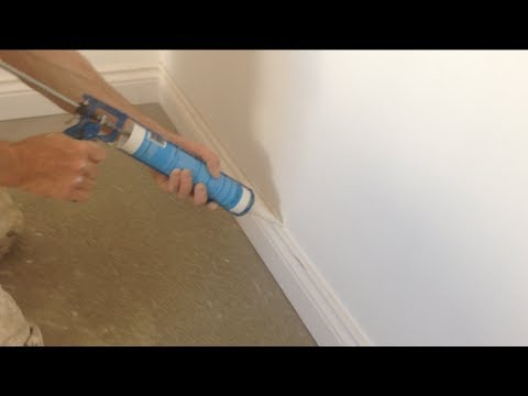how to caulk fill skirting boards gun fill youtube. Black Bedroom Furniture Sets. Home Design Ideas