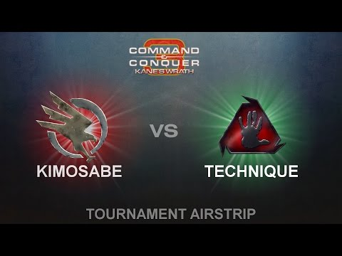 C&C3: Kanes Wrath 1vs1  Kimosabe GDI vs Technique BH