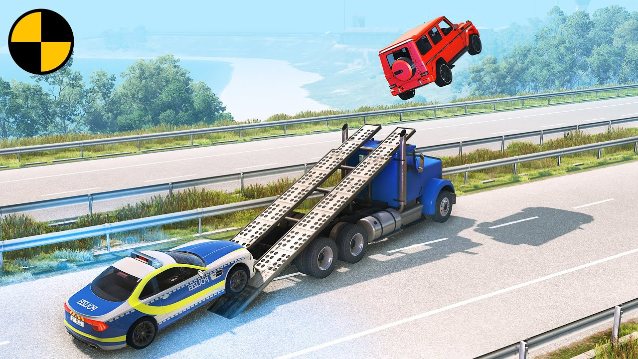 Cars vs Ramp Truck 😱 BeamNG.Drive