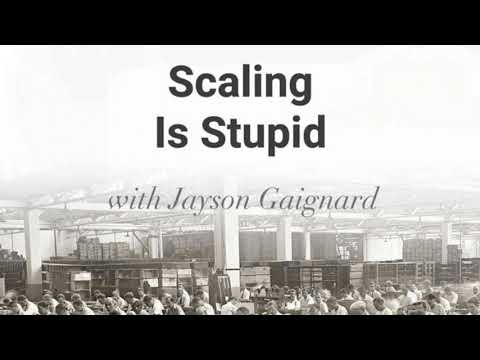 Scaling Is Stupid