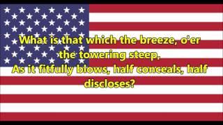 National anthem of the United States of America (lyrics)