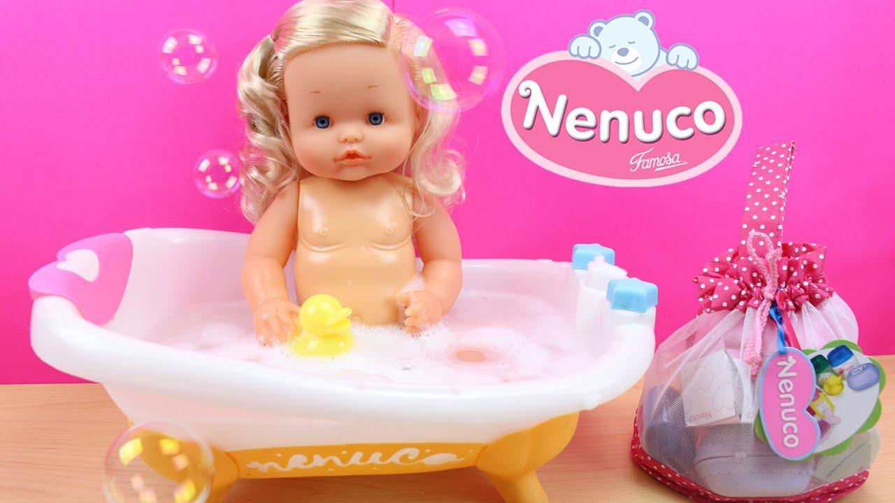 La beb nenuco se ba a en la ba era y hace pip en el orinal accesorios para la higiene de - Accesorios para baneras ...