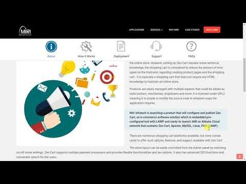 ZenCart | Steps of Alibaba Cloud Installation powered by Miri Infotech