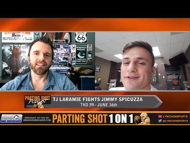 "TKO 39's TJ Laramie ""I just have to find my range, then I'll pick Jimmy Spicuzza apart"""