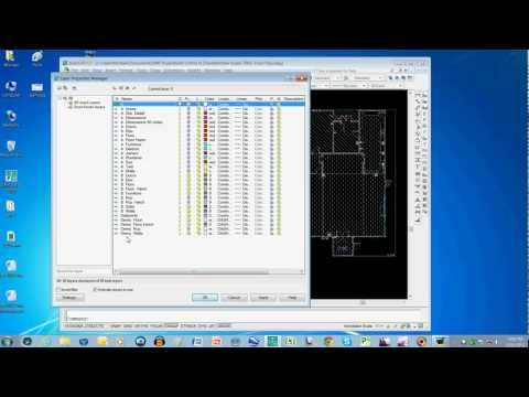 AutoCAD Tutorial 1 - Layer Names For Architects