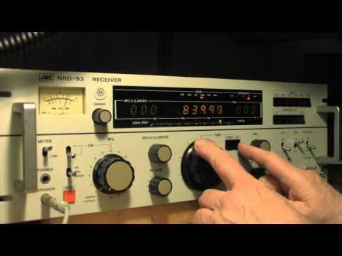 JRC NRD-93 on  Broadcast band & Beacons