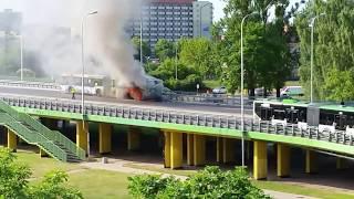 pozar autobusu w Białymstoku 2017 Video