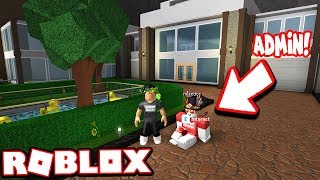 BUILDING A MODERN MANSION WITH THE ADMIN!!! (Roblox Bloxburg)